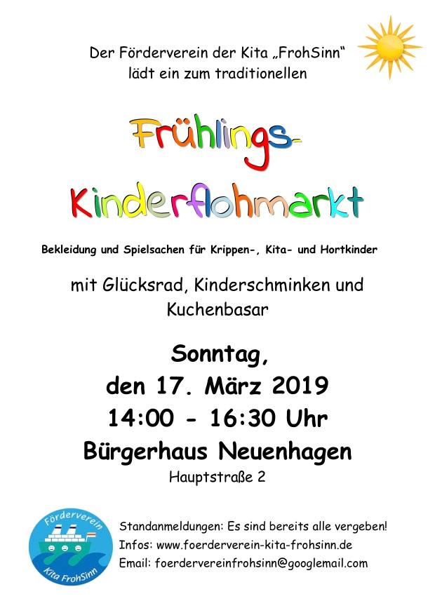 Flyer Flohmarkt Frühling 2019